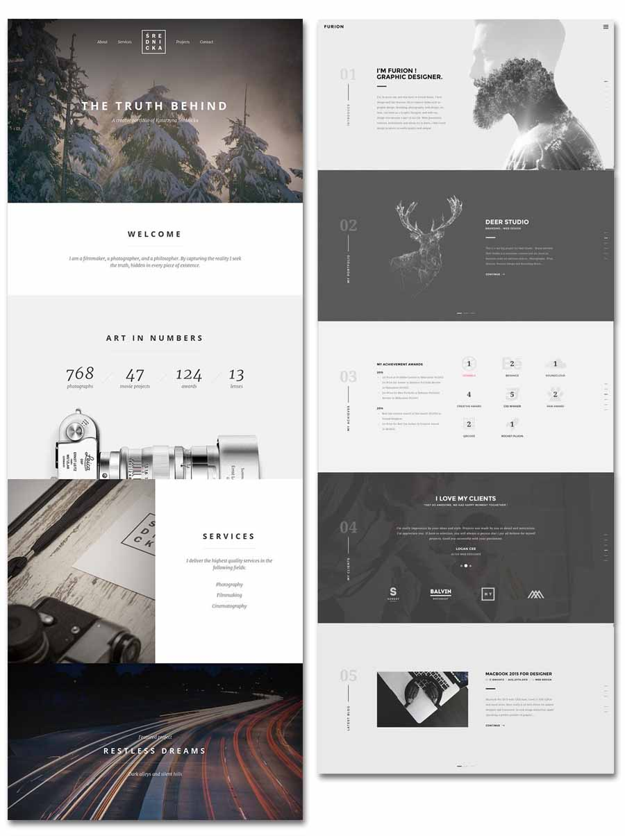 full width - boxed web design trend