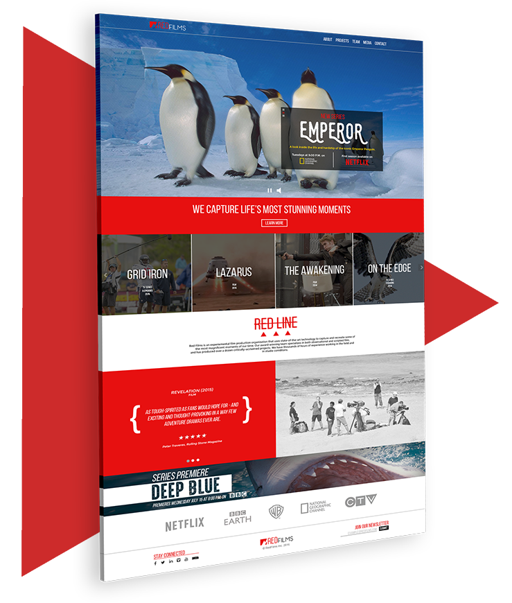 red films web site concept - new 1